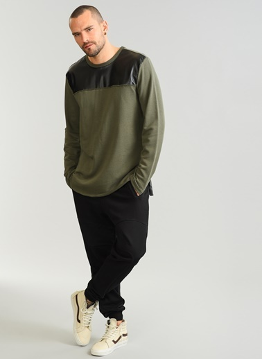 Deri Detaylı Sweatshirt-People By Fabrika